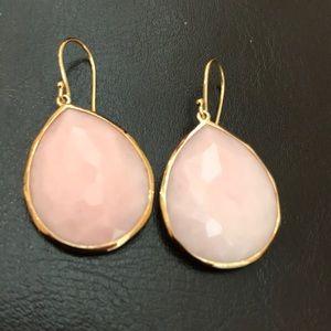 Ippolita 18k and pink opal earring